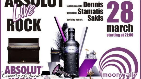 Absolut live Rock with Dennis , Stamatis and Sakis .