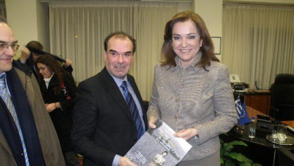 Επίσκεψη Ντόρας Μπακογιάννη στον Περιφερειάρχη Ανατολικής Μακεδονίας και Θράκης