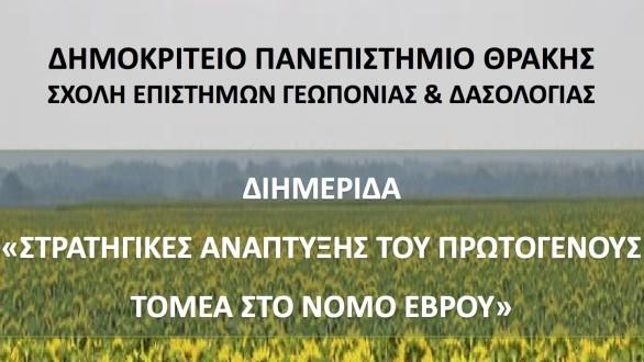 Διημερίδα παρουσία Τσιρώνη για τον πρωτογενή τομέα του Ν. Έβρου