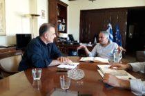 Συναντήσεις Βίτσα με υπουργεία για τις καταστροφές στην Σαμοθράκη