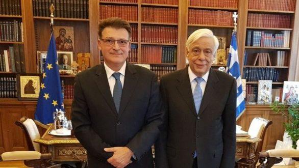 Συνάντηση Πέτροβιτς με τον Πρόεδρο την Δημοκρατίας Π. Παυλόπουλο