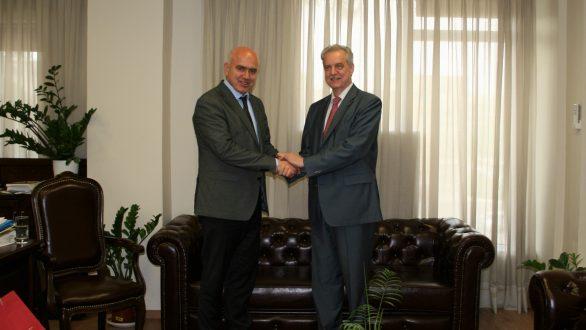 Συνάντηση Μέτιου με αντιπροσωπεία της Κυβέρνησης της Αγίας Πετρούπολης