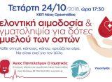 Εθελοντική αιμοδοσία και δειγματοληψία για δότες μυελού των οστών στα ΚΕΠ Ορεστιάδας