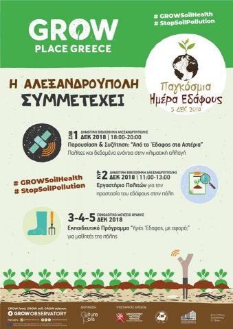 Παγκόσμια ημέρα εδάφους, Αλεξανδρούπολη
