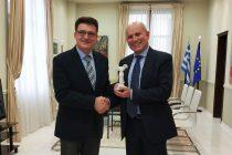 Αλεξανδρούπολη: Συνάντηση Πέτροβιτς με τον Πρέσβη της Ιταλίας Luigi Marras