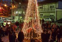 Φωταγώγηση Χριστουγεννιάτικου δέντρου στη Λεπτή