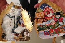 Σουφλί: Χριστουγεννιάτικα στολίδια από φύλλα μουριάς