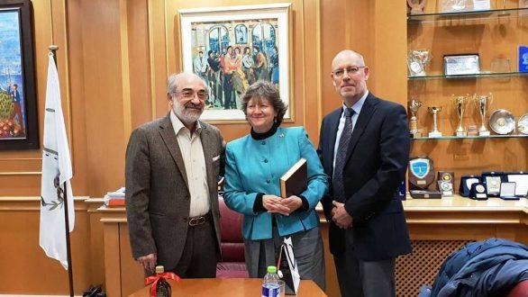 Αλεξανδρούπολη: Συνάντηση Λαμπάκη με την επιτετραμμένη της Πρεσβείας του Καναδά στην Ελλάδα