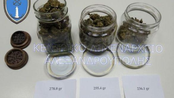 Σύλληψη για κατοχή 769,5 γραμμαρίων κάνναβης στην Αλεξανδρούπολη