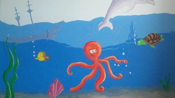 Με παιδικές τοιχογραφίες διακοσμήθηκε η πτέρυγα της παιδιατρικής του πανεπιστημιακού νοσοκομείου Αλεξανδρούπολης