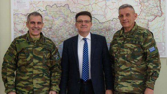 Συναντήθηκε ο Αντιπεριφερειάρχης Έβρου Δημήτριος Πέτροβιτς με τον Διοικητή 1ης Στρατιάς