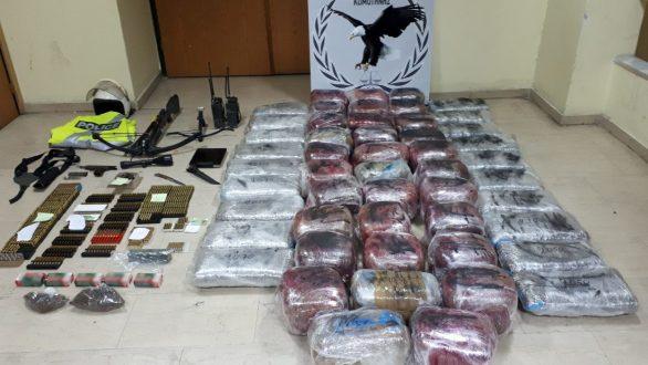 Σύλληψη σπείρας με 115 κιλά κάνναβης για εξαγωγή μέσω Έβρου και… ενισχυμένο οπλοστάσιο – Στον ανακριτή Ορεστιάδας οι συλληφθέντες