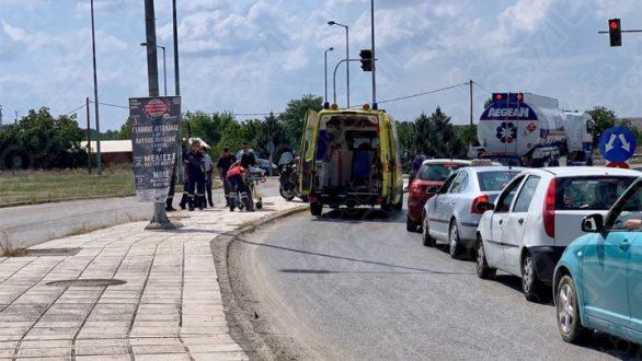 Τροχαίο με μοτοσικλετίστρια στην Ορεστιάδα