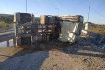 Φορτηγό ντελαπάρισε έξω από το Διδυμότειχο