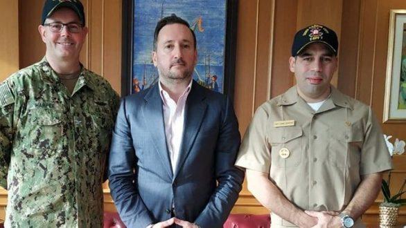 Με τον δήμαρχο Αλεξανδρούπολης συναντήθηκε ο καπετάνιος του USNS Carson City