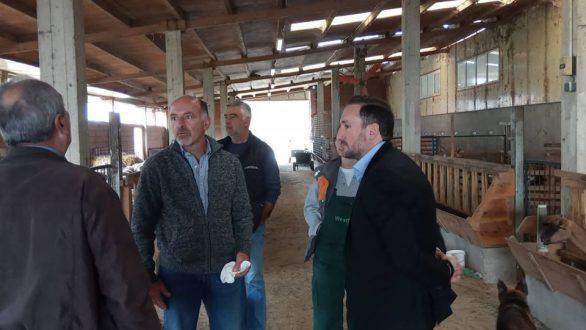 Επίσκεψη Ζαμπούκη στη μονάδα βιολογικού καθαρισμού και σε επιχειρήσεις στις Φέρες