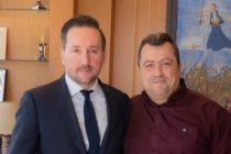 Τον δήμαρχο Σαμοθράκης  υποδέχτηκε στο γραφείο του ο δήμαρχος Αλεξανδρούπολης