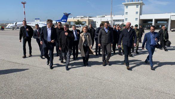 Οι δηλώσεις του πρωθυπουργού και των επικεφαλής των θεσμών της Ε.Ε. από τις Καστανιές