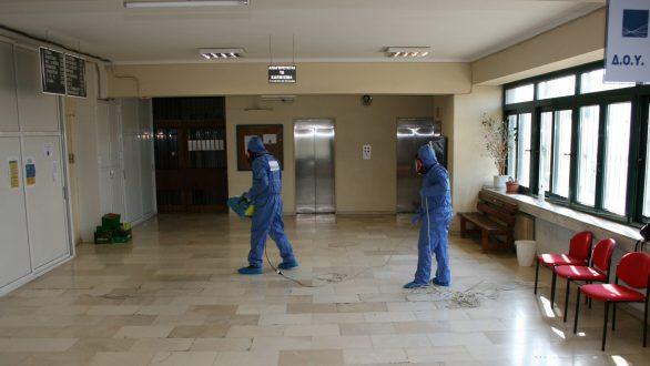 Ξεκίνησαν οι απολυμάνσεις στα κτίρια ευθύνης της Περιφέρειας ΑΜΘ
