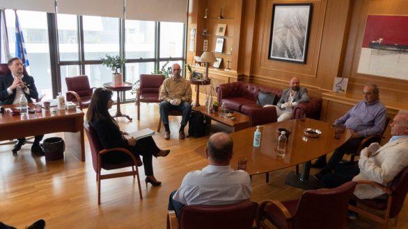 Συνάντηση του Δημάρχου Αλεξανδρούπολης με εκπροσώπους του Διαδριατικού Αγωγού Φυσικού Αερίου