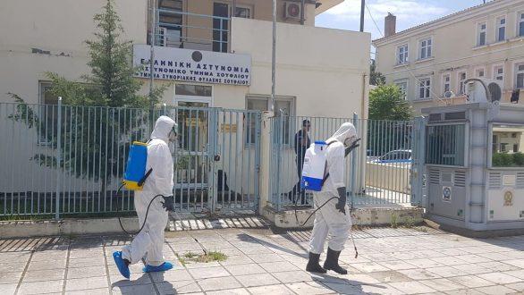 Απολύμανση του Αστυνομικού Τμήματος Σουφλίου και του Κέντρου Υγείας