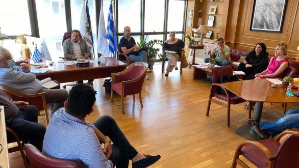 Συνάντηση εργασίας πραγματοποιήθηκε στο γραφείου του Δημάρχου Αλεξανδρούπολης και Προέδρου του Δ.Σ. της Δ.Ε.Υ.Α.Α.