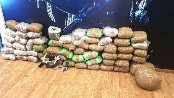 74 κιλά κάνναβης και πάνω από 3 κιλά χασισέλαιου κατασχέθηκαν από την Ομάδα Δίωξης Ναρκωτικών της Κομοτηνής
