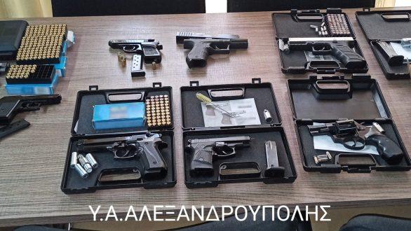 Αλεξανδρούπολη: Συλλήψεις 9 ατόμων για παράνομη κατοχή όπλων και φυσιγγίων κρότου