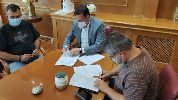 Υπογράφηκε η σύμβαση για την αποκατάσταση του κεντρικού αγωγού υδροδότησης της Αλεξανδρούπολης και της οδού πρόσβασης στο φράγμα